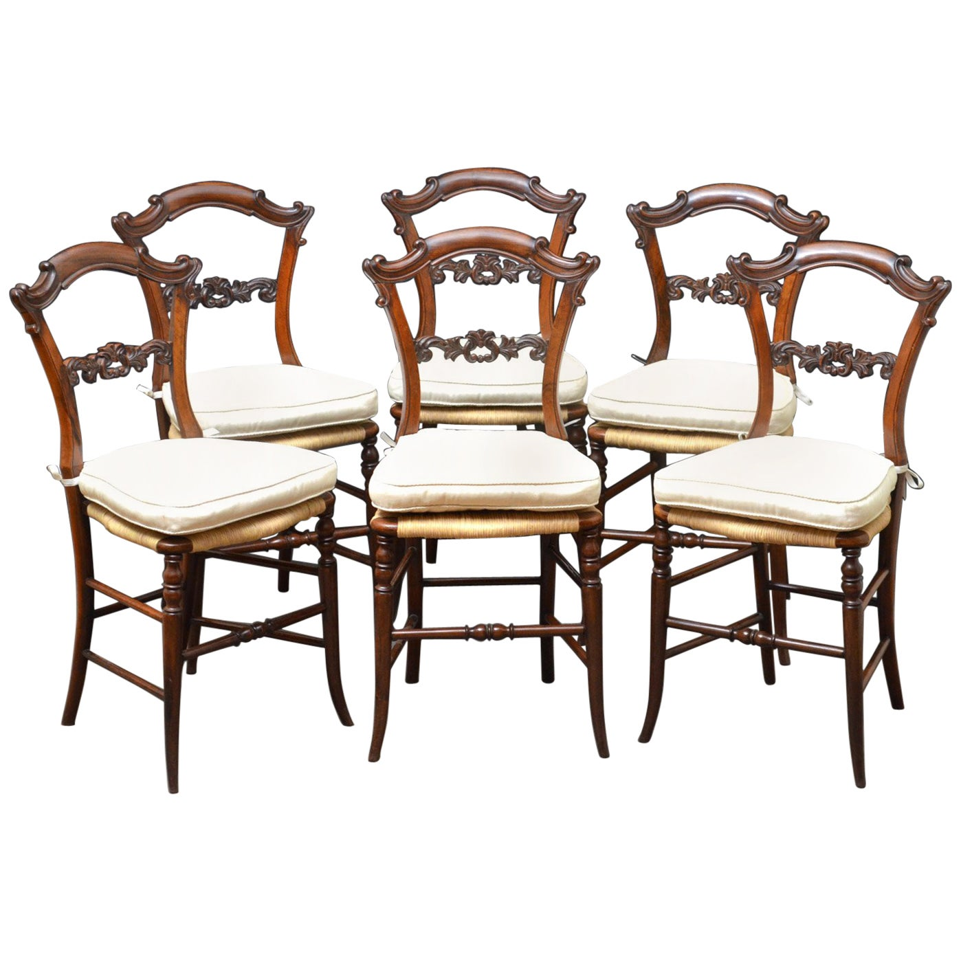 Set of Six Early Victorian Chairs in Rosewood