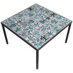 Ceramic Low Table Attributed to Robert Picault, France, circa 1950s