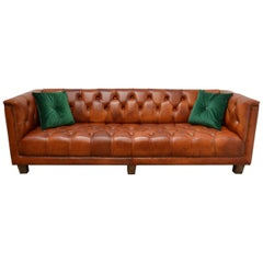 Contemporary Retro Look Delta Chesterfield