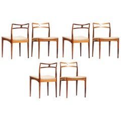 Johannes Andersen Dining Chairs for Christian Linneberg Mobelfabrik, Set of Six