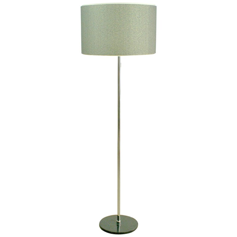 German 1960s Chrome Floor Lamp by Staff