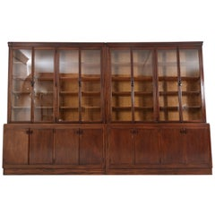 Large Oak Art Deco Amsterdam School Library Bookcase Attributed to C.J. Blaauw