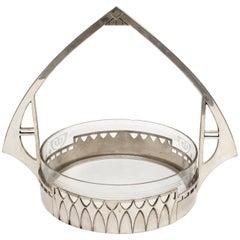 WMF Art Nouveau Silver Handled Bowl