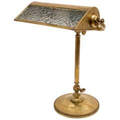 Art Nouveau Brass Table or Desk Lamp