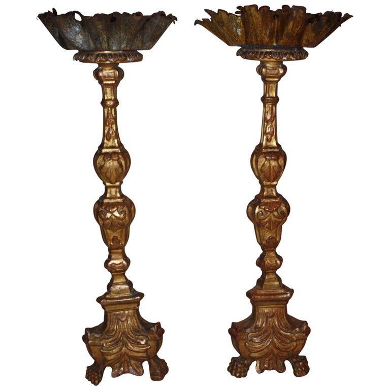 Early 19th Century Pair of Italian Candlesticks