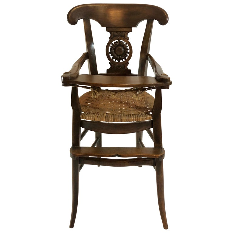 Antique Country French Fruitwood Child's Chair, circa 1880 For Sale - Antique Country French Fruitwood Child's Chair, Circa 1880 For Sale