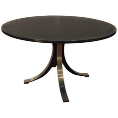 Osvaldo Borssani Midcentury Italian Round Table 'Tecno' from the 1970s