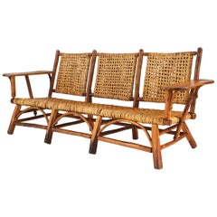 Rustic Old Hickory Settee