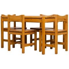 Tapiovaara 'Hongisto' Style Pine Dining Set