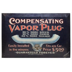 Original Compensating Vapor Plug Litho Advertising Sign