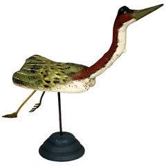 Folk Art Driftwood Sculpture of Large Waterfowl by Kilbride of Vermont Folk Art