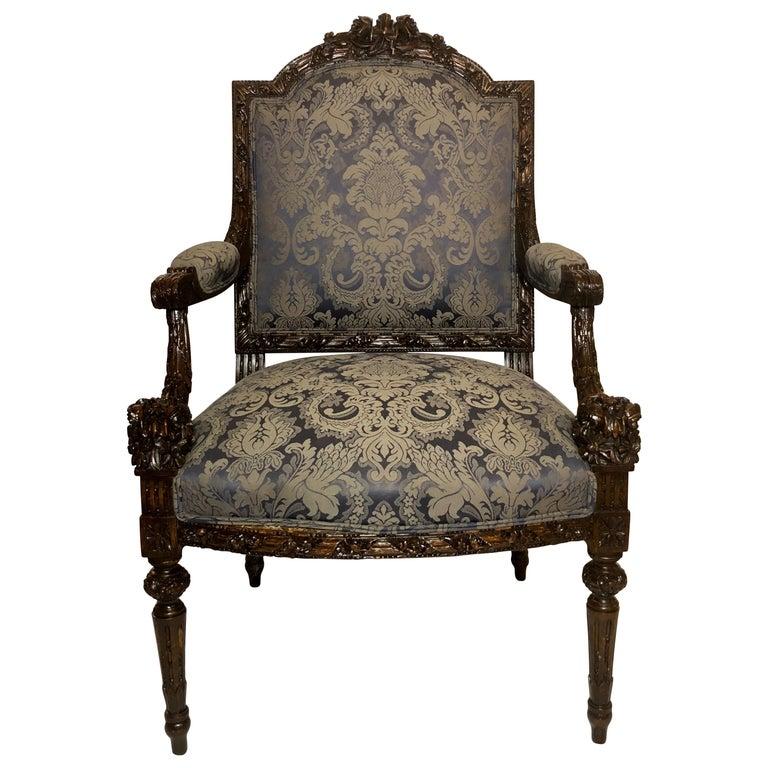 Antique French Armchair, circa 1890-1900