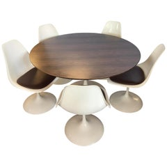Mid-Century Modern Kid Child Size Saarinen Tulip Table and Matching Five Chairs