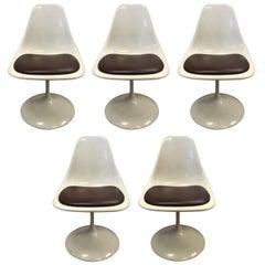 Mid-Century Modern Child Kids Size Tulip Chairs, Set of Five Saarinen Style