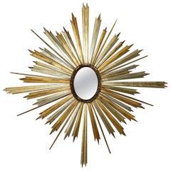 Monumental 19th Century Sunburst Mirror