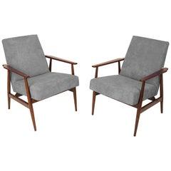 20th Century Pair of Gray Dante Armchairs, H. Lis, 1960s