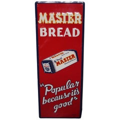 1940s Vintage Master Bread Tin Advertising Sign