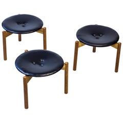 Rare Stools by Uno & Östen Kristiansson for Luxus, Sweden, 1960s