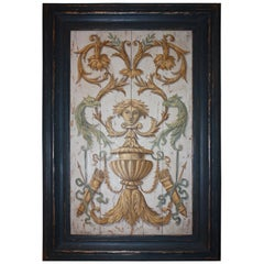 Large Italian Neoclassical Painted Panel