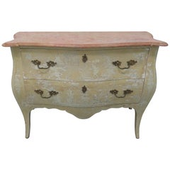 Midcentury Chinoiserie Painted Bombe Chest