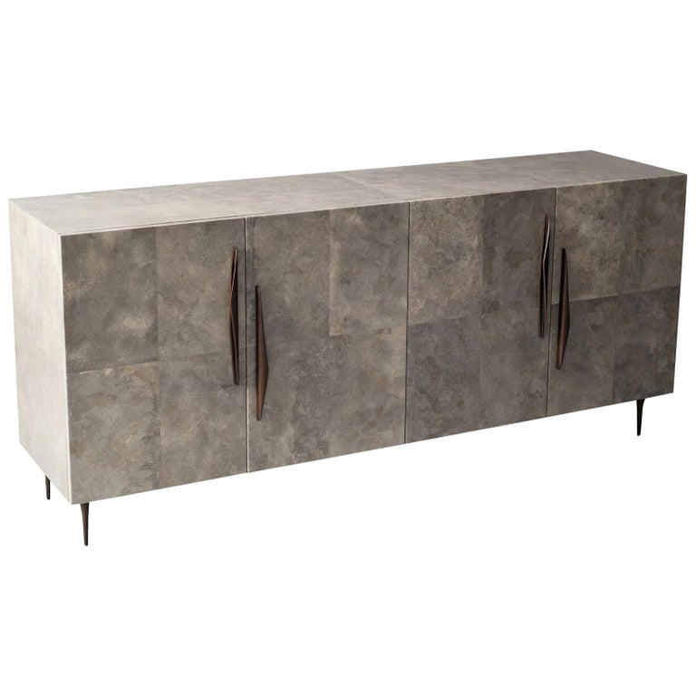 Antwerp Cabinet by Demuro Das in Solid Antique Bronze and Grey Carta