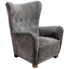 1940s Fritz Hansen Wingback Chair, Model 1672