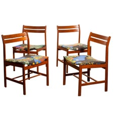 1960s, Teak Set of Four Dining Chairs by Josef Frank