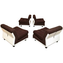 Set of Four Amanta Chairs by Mario Bellini for B&B Italia