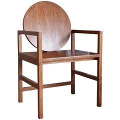Brazilian Hardwood Sucupira Chair, Medallion