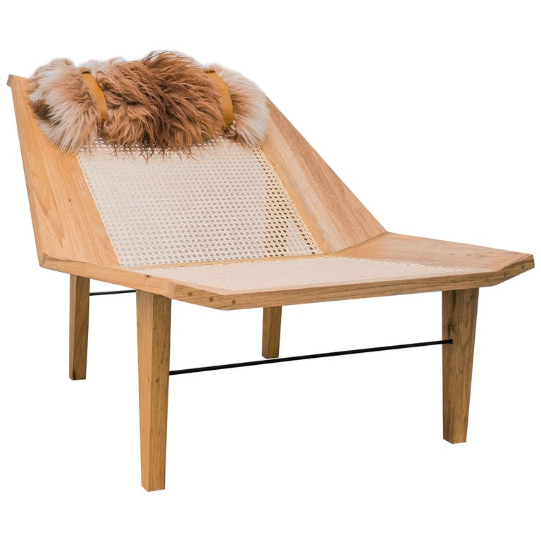 Brazilian Hardwood Freijó Armchair, Totora For Sale at 1stdibs