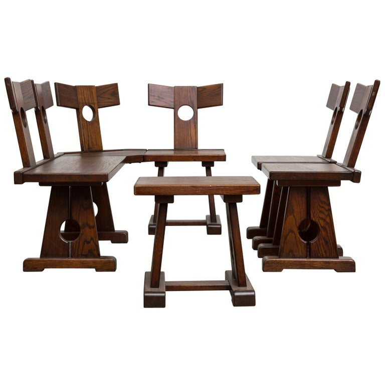 Pierre Chapo Inspired Corner Seating Unit