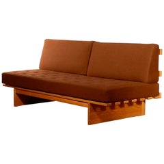 1960s Oak and Wool Daybed by DUX