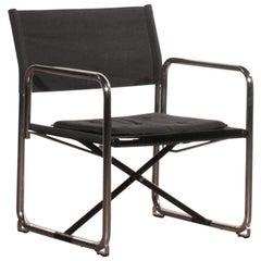 1970s, Black Folding Chair by Börge Lindau & Bo Lindecrantz