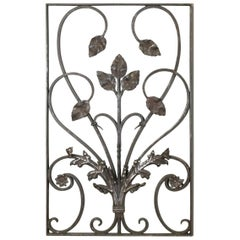 19th Century French Hand-Forged Wrought Iron Art Nouveau Period Panel