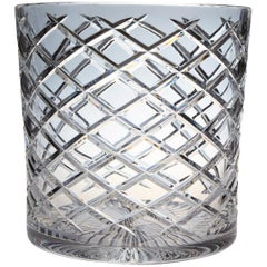 French Cut Crystal Wine Cooler or Champagne Ice Bucket for Two Bottles