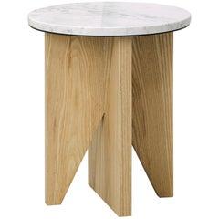 Affordances Side Table with Carrara Top & Ash Legs by Jonathan Zawada