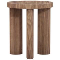 Orbit Four-Legged Stool & Side Table in Walnut by Jamie Gray