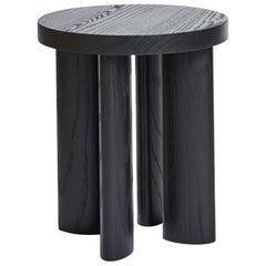 Orbit Four-Legged Stool & Side Table in Ebonized Ash by Jamie Gray