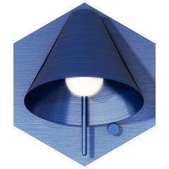 Mega Hexagon Sconce in Anondized Blue with Wire by Matter Made