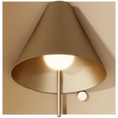 Mega Square Sconce in Satin Brass by Matter Made