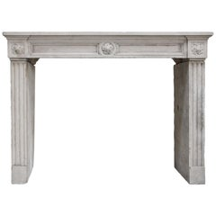 Special Antique Ornate Fireplace from Louis XVI, 18th Century