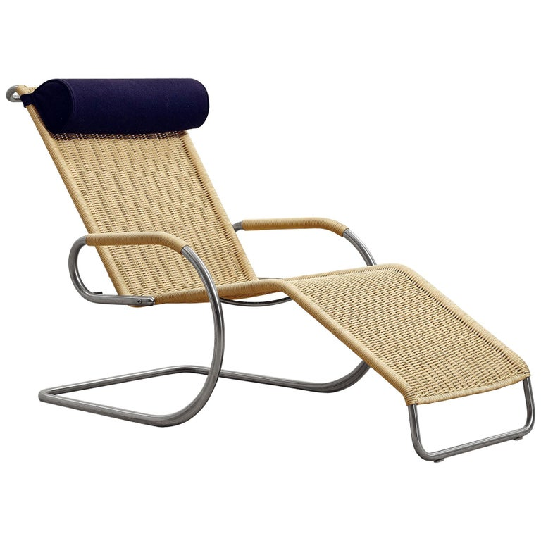 Wicker Chaise Longue F42 1E By Mies Van Der Rohe Designed In
