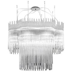 Vistosi Diadema Chandelier in Crystal by Romani Saccani Architects