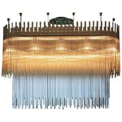 Vistosi Diadema Eliptical Chandelier in Multi-Color by Romani Saccani Architects