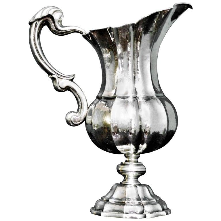 Mario Buccellati 20th Century Art Deco Italian Silver Embossed Carafe, 1920s