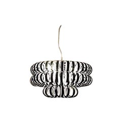 Vistosi Ecos Three-Ring Pendant in Black by Renato Toso & Noti Massari