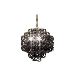 Vistosi Giogali Small Pendant Light in Black by Angelo Mangiarotti