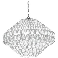 Vistosi Giogali Large Multi-Tier Pendant Light in White by Angelo Mangiarotti