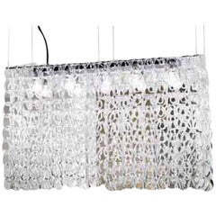Vistosi Giogali Pendant Light in Crystal and Transparent by Angelo Mangiarotti