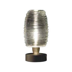 Vistosi Small Damasco Table Lamp in Crystal & Satin Nickel by Paolo Crepax